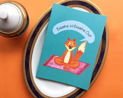 Yogi fox breath in breath out notebook thumb
