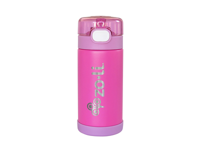 Zoli pow squeak vacuum insulated straw drink bottle hot pink thumb