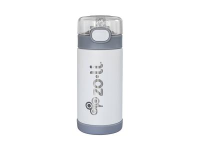 Zoli pow squeak vacuum insulated straw drink bottle white thumb