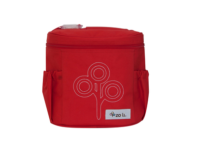 Zoli nom nom insulated lunch bag red thumb