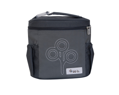Zoli nom nom insulated lunch bag grey thumb