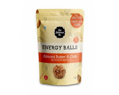 Dried fruit energy balls almond butter oats thumb