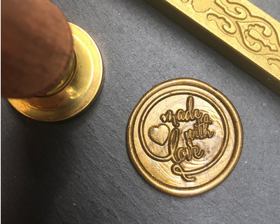 Made with love wax seal stamp thumb