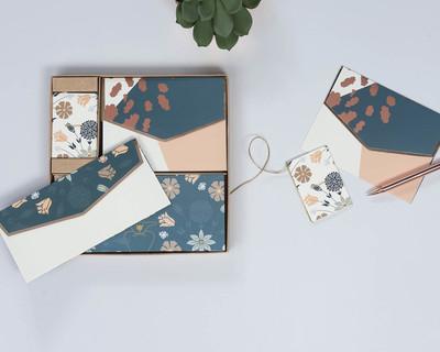 Gardenia stationery gift boxed set personalized thumb