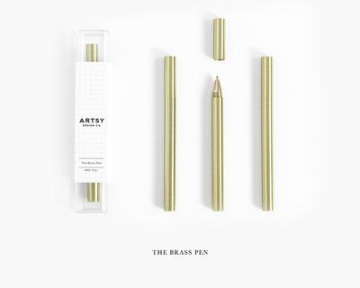 Solid brass pen thumb