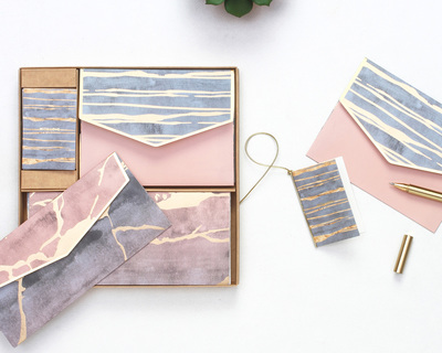 Pastel marbled boxed set thumb
