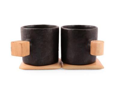 Dot square mug set thumb