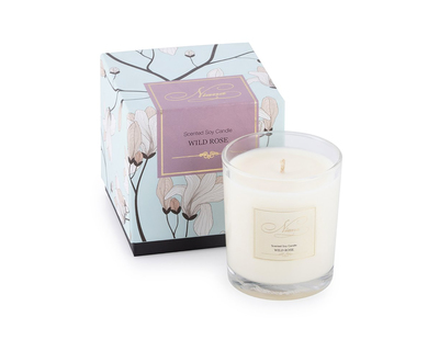 Wild rose soy candle thumb
