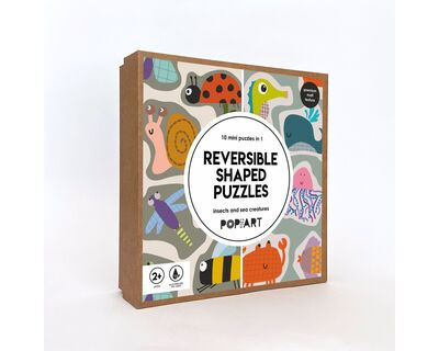 Reversible shape puzzle numbers and animals thumb