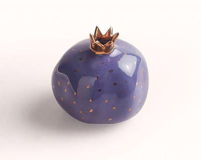 Pomegranate decor sculpture ultra violet thumb