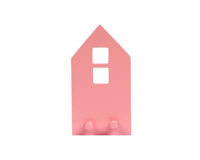 Pink house wall hook thumb