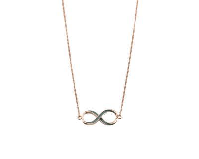 Infinity neck chain thumb