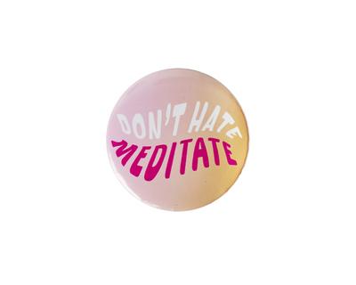Meditate pin badge thumb