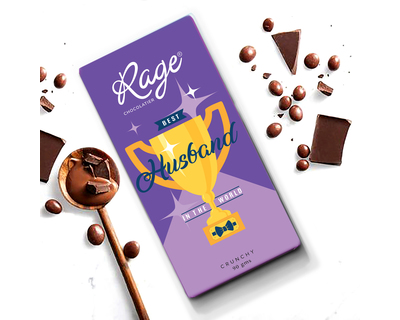 Rage best husband chocolate bar 90 gm thumb