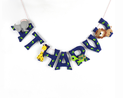 Personalised animal name bunting thumb