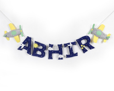 Personalised aeroplane name bunting thumb