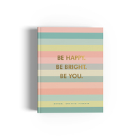 Undated happiness planner be happy be bright be you small