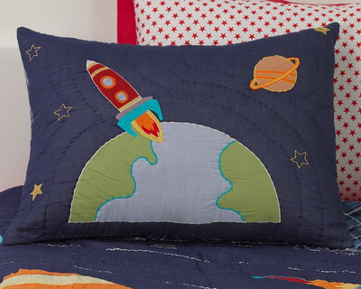 3 2 1 blast off pillow sham thumb