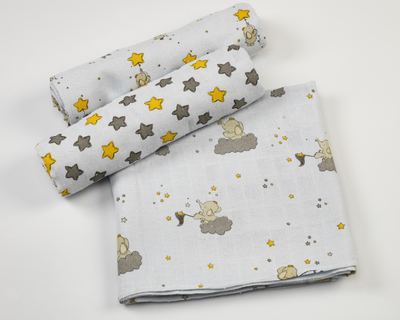 Starry night swaddles set thumb