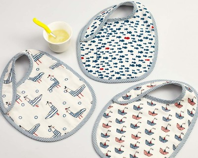 Nautical bib set thumb