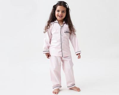 Classy pink kids pajama set thumb