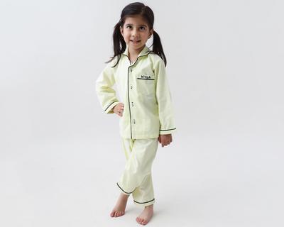 Sunshine yellow kids pajama set thumb