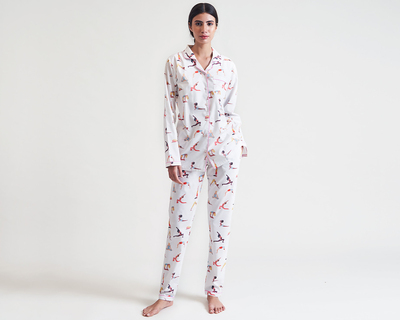 Work it organic women pajama set thumb