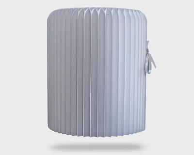 Foldable white stool thumb
