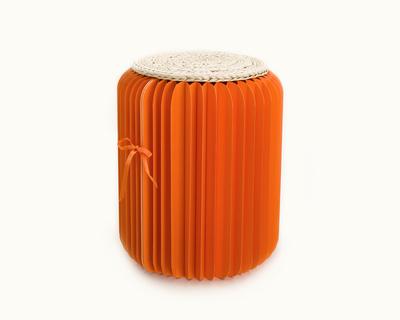 Foldable orange paper stool thumb