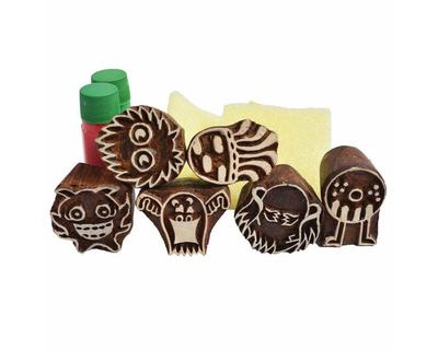 Shumee wooden fun monster stamps thumb