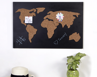 World map chalk board thumb