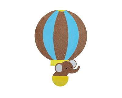 Hot air balloon pin board thumb