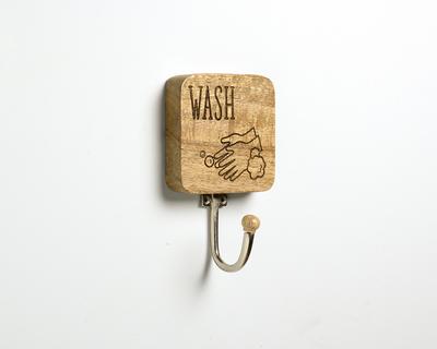 Wash hook thumb