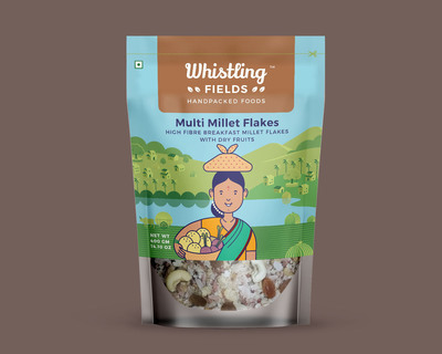Multi millets flakes with dry fruits pack of 2 thumb