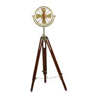 Tripod nautical fan clock small