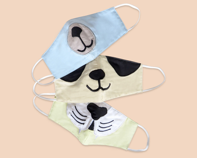 Masilo kids face mask set of 3 animals thumb