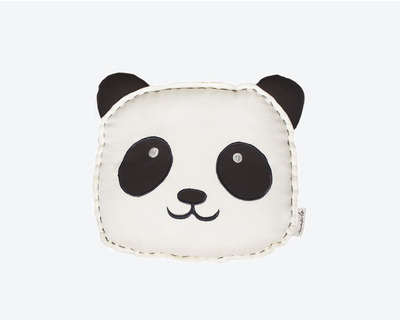 Peekaboo panda organic shape cushion thumb