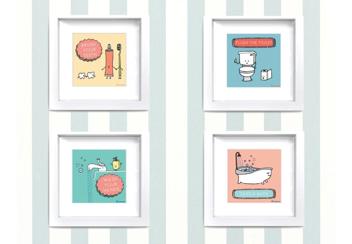 Kiddie Stuff Bathroom Frames Natty