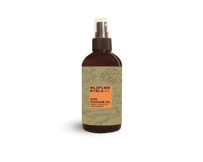 Kids massage oil with sweet almond oil and vitamin e thumb