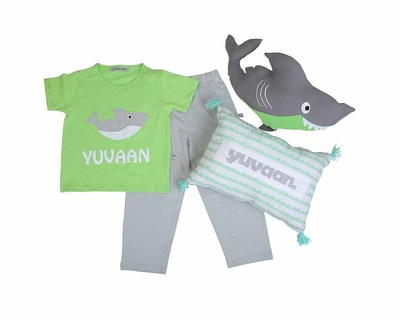 Customize it shark nightsuit and cushion set thumb