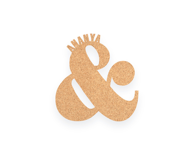 Pin your interests cork board ampersand thumb