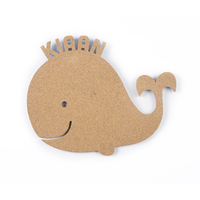 Pin your interests cork board whale small