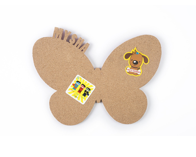 Pin your interests cork board butterfly thumb