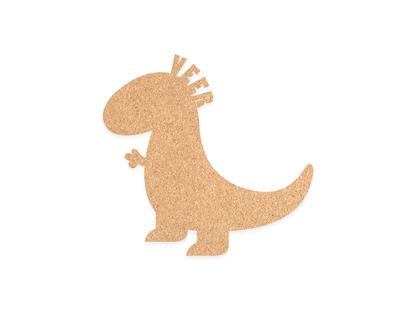 Pin your interests cork board dinosaur thumb