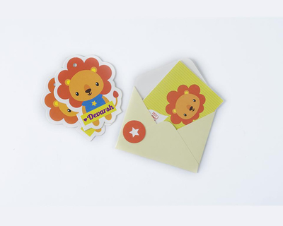 Stationery for the little ones lion luxury thumb