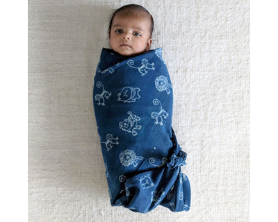 Zoo muslin swaddle wrap thumb