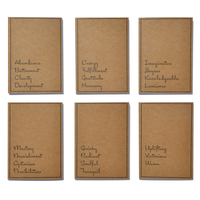 Neoteric bloom stationery a z series 6 notebook combo a5 300 gsm paper small