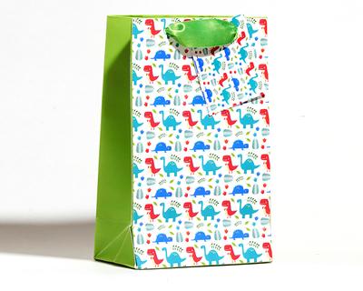 Dinosaur theme small gift bags set of 5 bags thumb