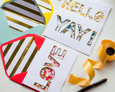 Greeting cards typography thumb