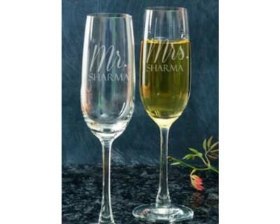 Personalised champagne glasses thumb